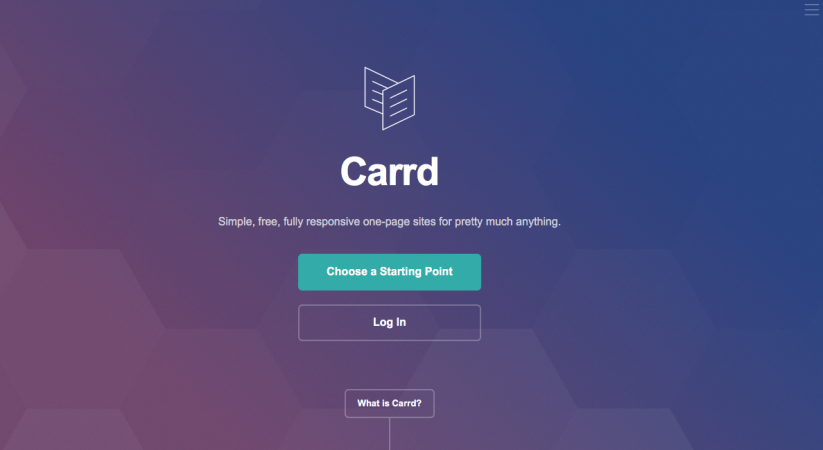 Платформа за онлайн портфолио – carrd.co